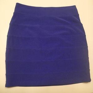 BLUE h&m mini pencil skirt